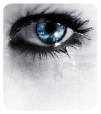 blue eyes tear
