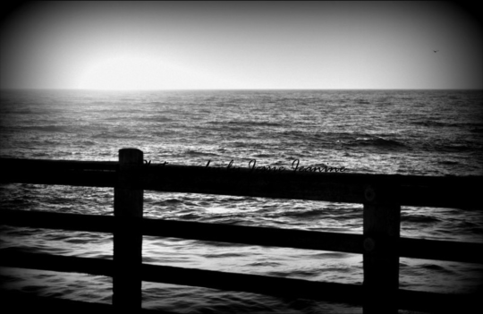 Sunset Waves in Black & White