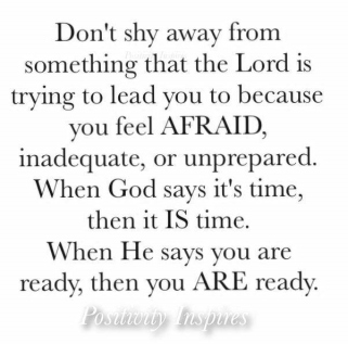 Don't shy away from God.