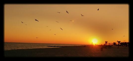 Sunset in Gulfport, Mississippi